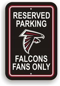 Atlanta Falcons Plastic Parking Sign - Reserved Parking