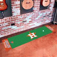 "Houston Astros Putting Green Runner Mat 18""x72"""