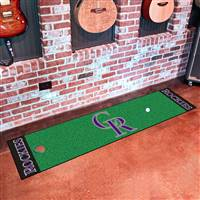 "Colorado Rockies Putting Green Runner Mat 18""x72"""