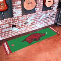 "Arkansas Razorbacks Putting Green Runner Mat 18""x72"""
