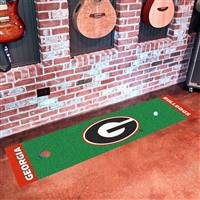 "Georgia Bulldogs Putting Green Runner Mat 18""x72"""