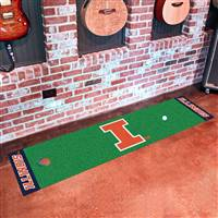 "Illinois Fighting Illini Putting Green Runner Mat 18""x72"""