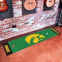 "Iowa Hawkeyes Putting Green Runner Mat 18""x72"""