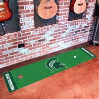 "Michigan State Spartans Putting Green Runner Mat 18""x72"""