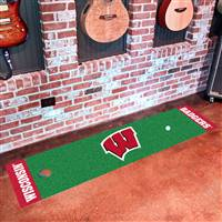 "Wisconsin Badgers Putting Green Runner Mat 18"" x 72"""