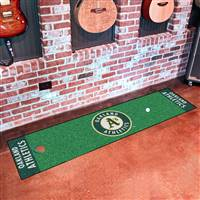"Oakland Athletics Putting Green Runner Mat 18""x72"""