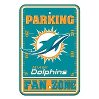 Miami Dolphins Plastic Parking Sign - Fan Zone