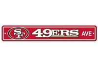 San Francisco 49er's Plastic Street Sign