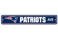 New England Patriots Plastic Street Sign