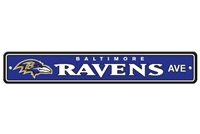 Baltimore Ravens Plastic Street Sign