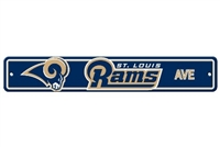 St. Louis Rams Plastic Street Sign