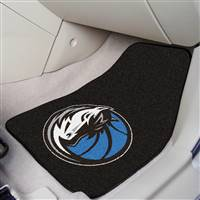 "Dallas Mavericks 2-Piece Carpeted Car Mats 18""x27"""