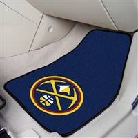 "Denver Nuggets 2-Piece Carpeted Car Mats 18""x27"""