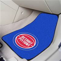 "Detroit Pistons 2-Piece Carpeted Car Mats 18""x27"""