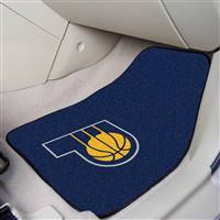 "Indiana Pacers 2-Piece Carpeted Car Mats 18""x27"""