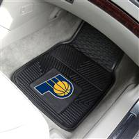 "Indiana Pacers Heavy Duty 2-Piece Vinyl Car Mats 18""x27"""