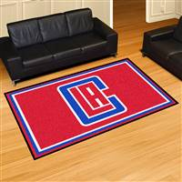 "Los Angeles Clippers 5x8 Area Rug 60""x92"""