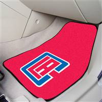"Los Angeles Clippers 2-Piece Carpeted Car Mats 18""x27"""