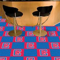 "Los Angeles Clippers Carpet Tiles 18""x18"" Tiles, Covers 45 Sq. Ft."