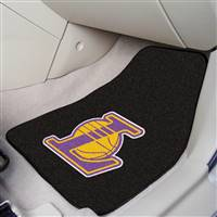 "Los Angeles Lakers 2-Piece Carpeted Car Mats 18""x27"""