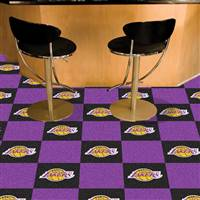 "Los Angeles Lakers Carpet Tiles 18""x18"" Tiles, Covers 45 Sq. Ft."