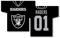 "Oakland Raiders Jersey Banner 34"" x 30"" - 2-Sided"