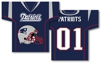 "New England Patriots Jersey Banner 34"" x 30"" - 2-Sided"