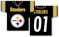 "Pittsburgh Steelers Jersey Banner 34"" x 30"" - 2-Sided"