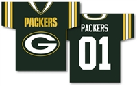 "Green Bay Packers Jersey Banner 34"" x 30"" - 2-Sided"