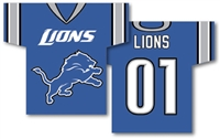 "Detroit Lions Jersey Banner 34"" x 30"" - 2-Sided"
