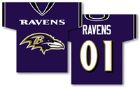"Baltimore Ravens Jersey Banner 34"" x 30"" - 2-Sided"