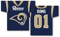 "St. Louis Rams Jersey Banner 34"" x 30"" - 2-Sided"