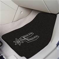 "San Antonio Spurs 2-piece Carpeted Car Mats 18""x27"""