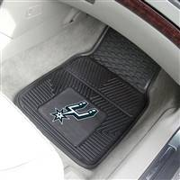 "San Antonio Spurs Heavy Duty 2-Piece Vinyl Car Mats 18""x27"""