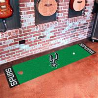 "San Antonio Spurs Putting Green Runner Mat 18""x72"""