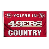 San Francisco 49ers 3 Ft. X 5 Ft. Flag W/Grommetts