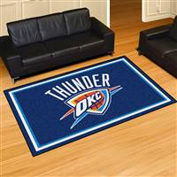 "Oklahoma City Thunder 5x8 Area Rug 60""x92"""