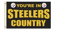 Pittsburgh Steelers 3 Ft. X 5 Ft. Flag W/Grommetts