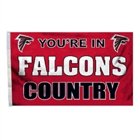 Atlanta Falcons 3 Ft. X 5 Ft. Flag W/Grommetts