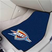 "Oklahoma City Thunder 2-Piece Carpeted Car Mats 18""x27"""
