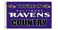 Baltimore Ravens 3 Ft. X 5 Ft. Flag W/Grommetts
