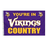 Fremont Die Minnesota Vikings 3 Ft. X 5 Ft. Flag W/Grommetts