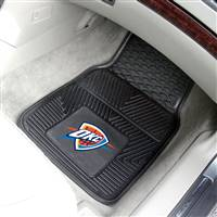 "Oklahoma City Thunder Heavy Duty 2-Piece Vinyl Car Mats 18""x27"""