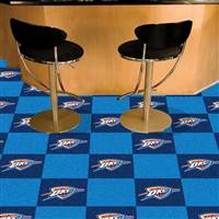 "Oklahoma City Thunder Carpet Tiles 18""x18"" Tiles, Covers 45 Sq. Ft."