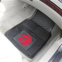 "Toronto Raptors Heavy Duty 2-Piece Vinyl Car Mats 18""x27"""