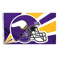 Minnesota Vikings 3 Ft. X 5 Ft. Flag W/Grommetts