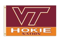 Virginia Tech Hokies 3 Ft. X 5 Ft. Flag W/Grommets