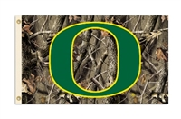 Oregon Ducks 3 Ft. X 5 Ft. Flag W/Grommets - Realtree Camo Background