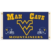 West Virginia Mountaineers Man Cave 3 Ft. X 5 Ft. Flag W/ 4 Grommets