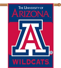 "Arizona Wildcats Two-Sided 28"" x 40"" Banner with Pole Sleeve"
